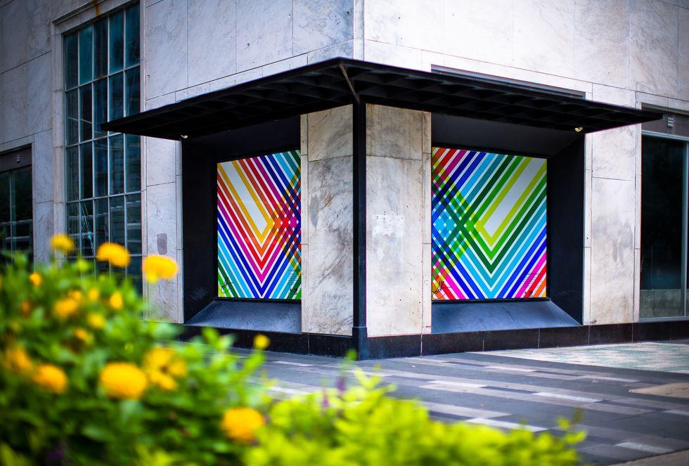 Steffany Brady, Brilliant Tapestry, WindowWorks installation at 1111 Main; Photo © Morris Malakoff