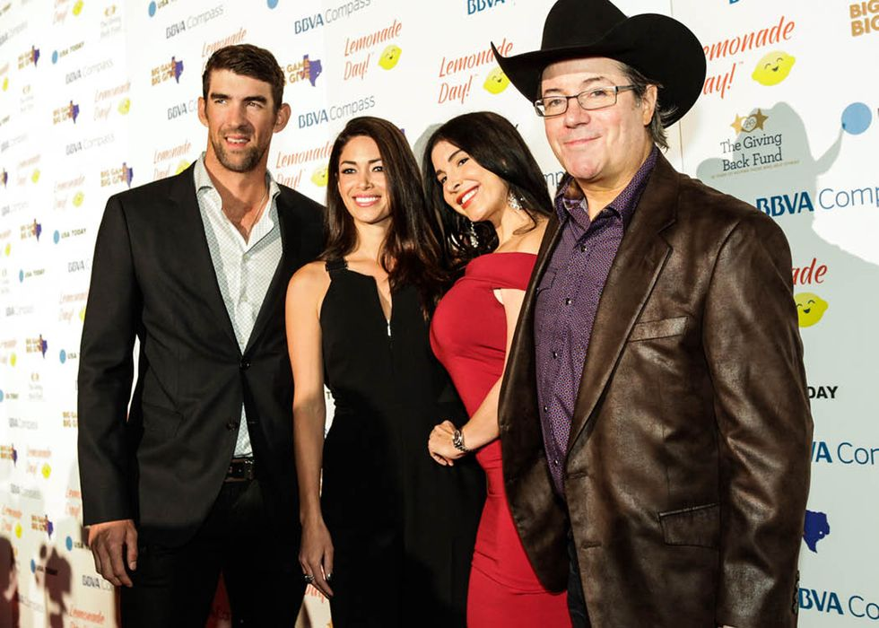 Michael and Nicole Phelps with Mayra Veronica and Jamie Gold