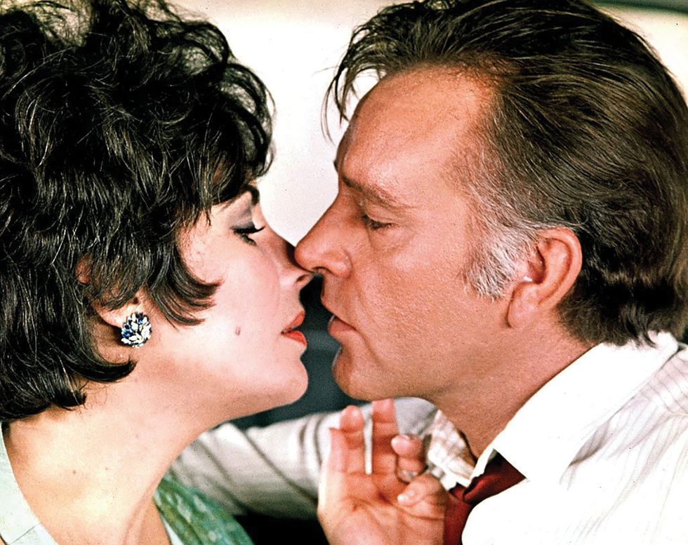 Elizabeth Taylor and Richard Burton in the film ''The Comedians''