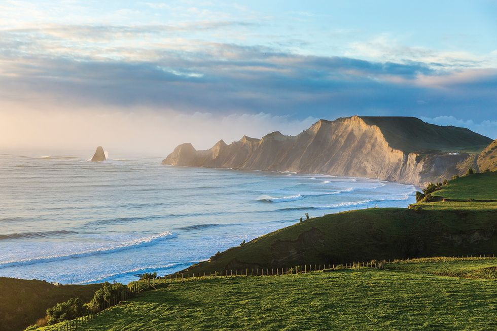 Cape Kidnappers Peninsula and Shark's Tooth