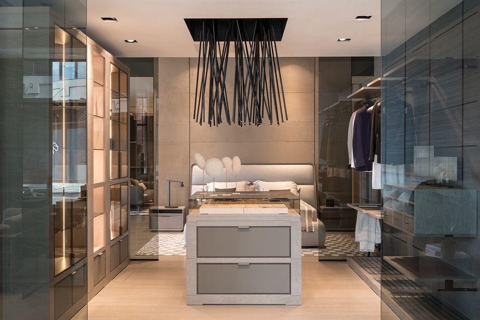 Giorgetti Closet and Bedroom; photo courtesy of CASA