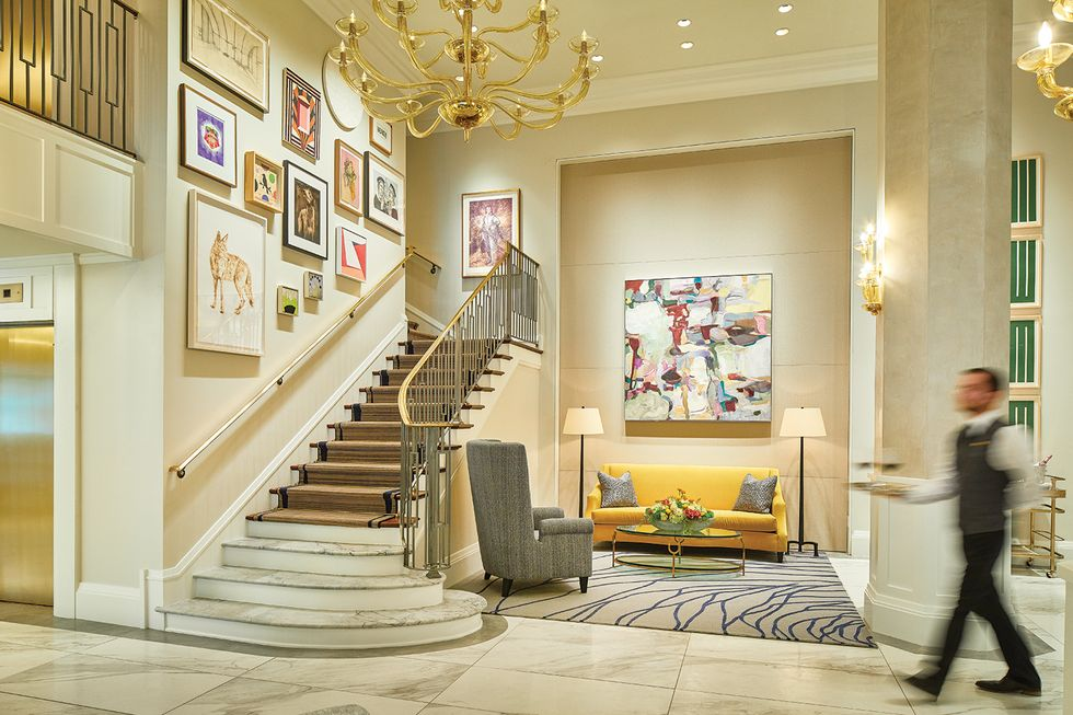 The Lancaster Hotel Salon Staircase; Photo Courtesy of The Lancaster Hotel