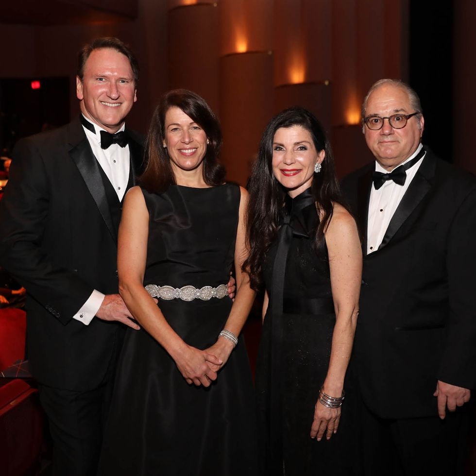 Jacqueline and Michael Kenneally and Cynthia and Tony Petrello at 'Arias.'