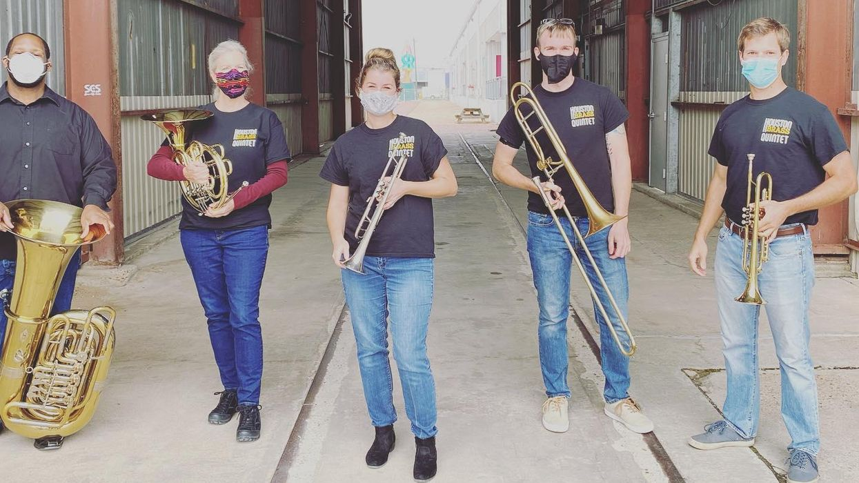 The Houston Brass Quintet Pops Up and Pivots for the Holiday Season