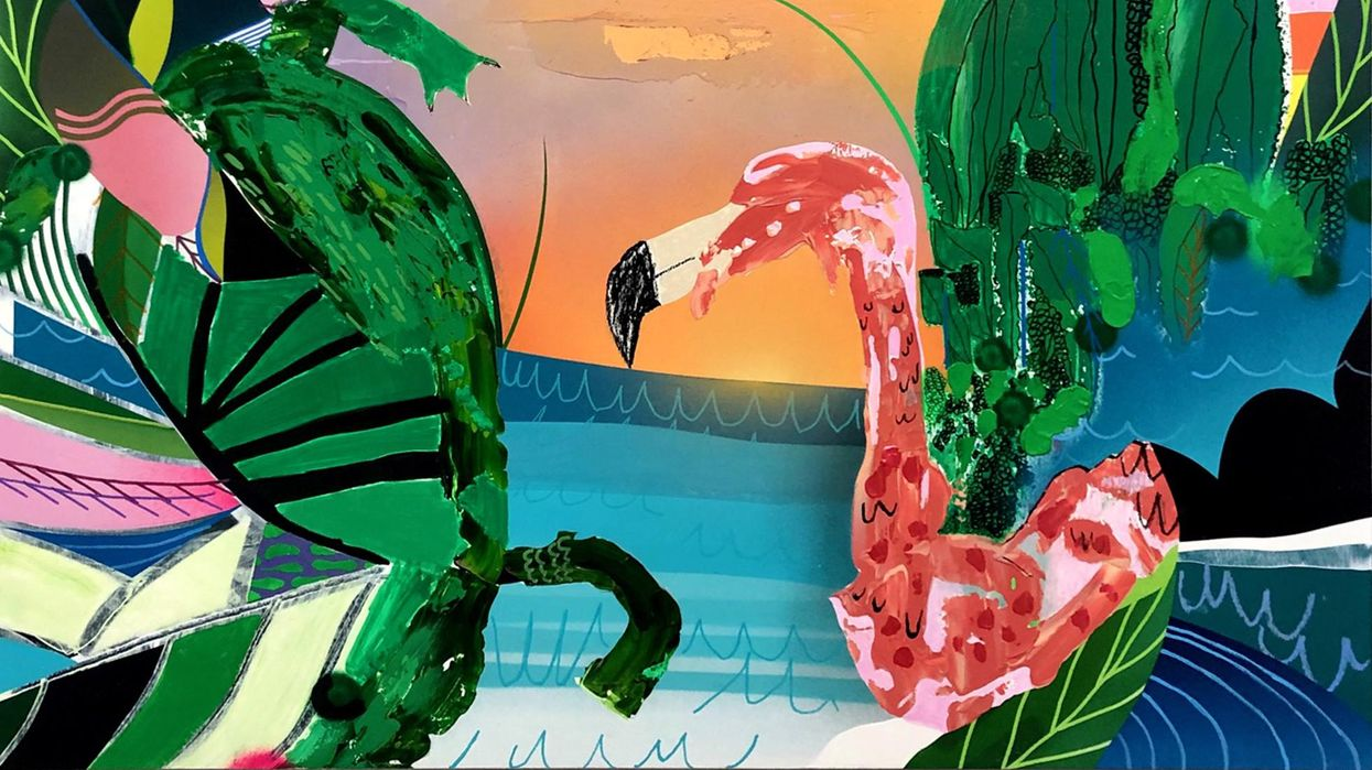 In Vibrant New Show at Foltz, Two Takes on Nature and Spirituality Meld